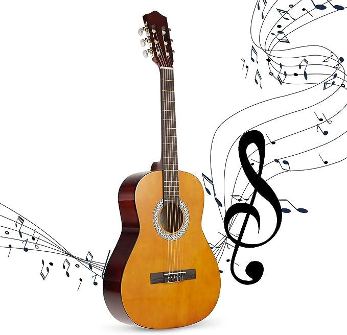 Strong Wind Guitarra acústica clásica 39 pulgadas 6 cuerdas de ...