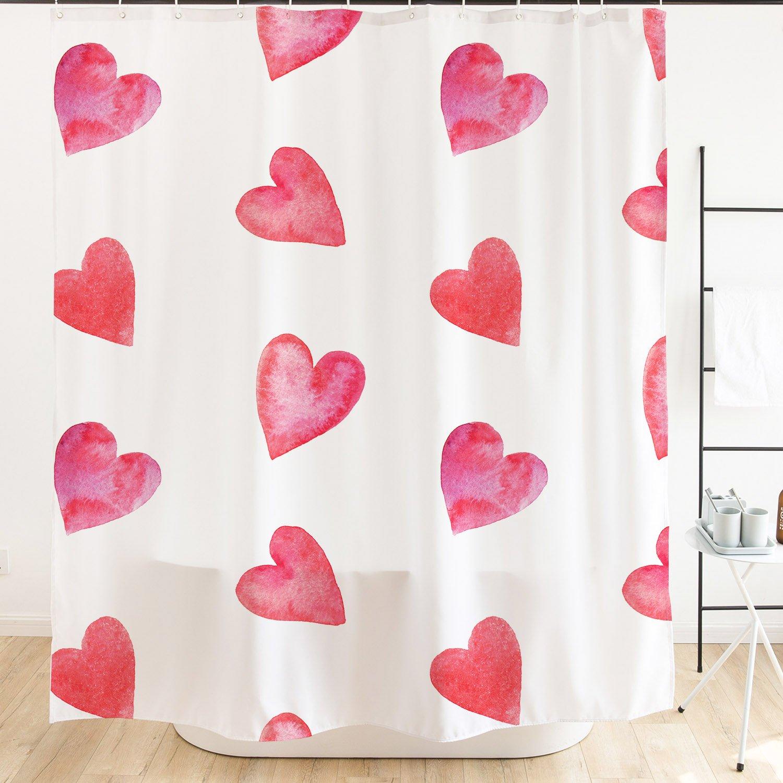 Orange Design White Seahorse Shower Curtain 71x71 inch Teal Aqua Shell Pink Starfish Bathroom Decor Turquoise