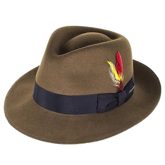 724228cd9478f Stetson Hats Atlanta Vita-Felt Fedora - Brown: Amazon.co.uk: Clothing