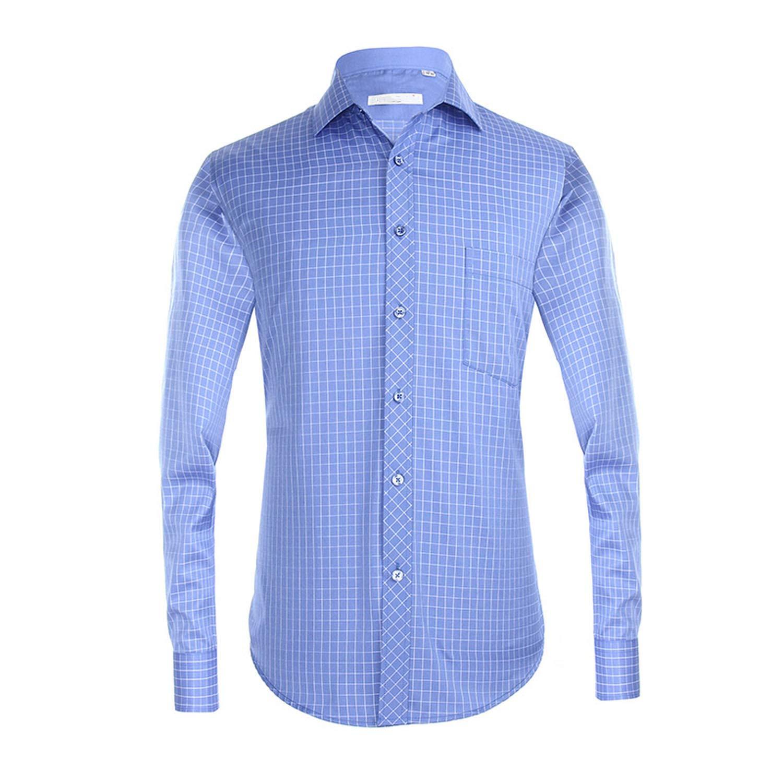 Amazoncom 2019 Formal Dress Shirt Men Long Sleeve Classic Purple