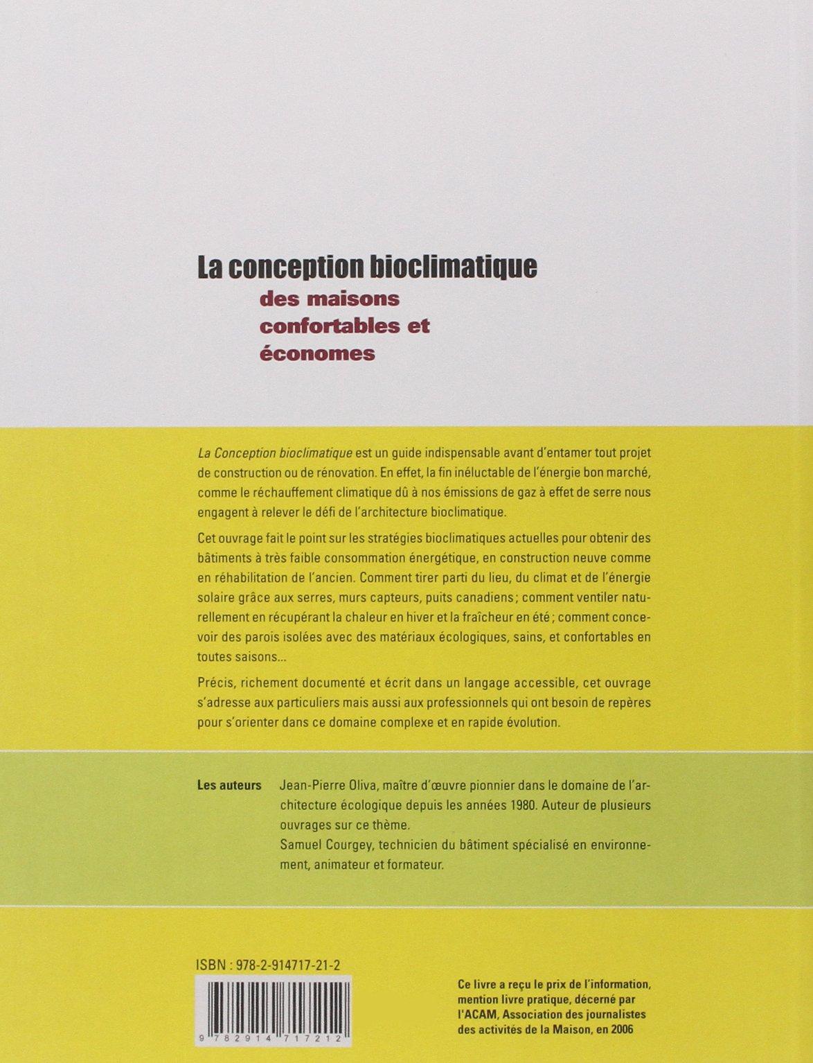 Amazonfr La Conception Bioclimatique Des Maisons économes Et