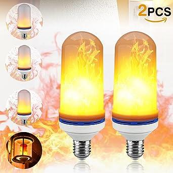 Parpadeo luz bombilla LED efecto llama farol lámpara de pared para casa fiesta Chiristmas decoración de
