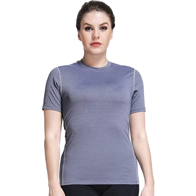 a54b3d8c Dri Fit Shirts for Women Workout Tee Shirts Short Sleeve T-Shirts Running  Muscle Tshirt