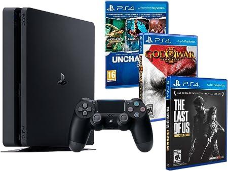 Playstation 4 Consola PS4 Slim 1Tb + 5 Juegos - The Last of us + God of war 3 + Uncharted Nathan Drake Collection: Amazon.es: Videojuegos
