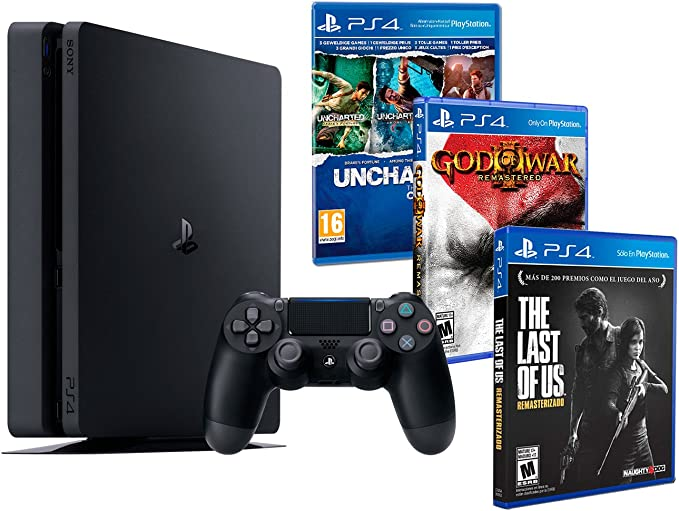 Playstation 4 Consola PS4 Slim 1Tb + 5 Juegos - The Last of us + ...