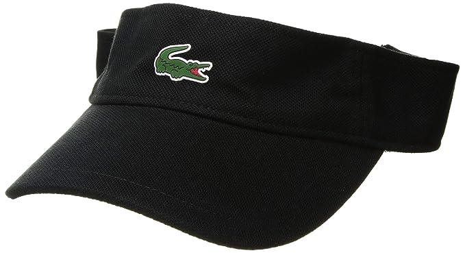 df9ab089a6e66e Lacoste Men's Sport Pique Croc Visor, Black One Size at Amazon Men's ...