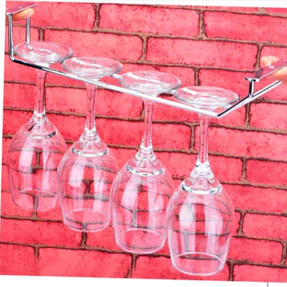 11.5x5.2cm LOVIVER Glas Weinglas Halter Regal Gl/äserregal Gl/äserhalter Gl/äserschiene Bar