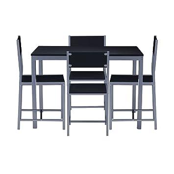 Nilkamal Wigo Four Seater Dining Table Set (Black)
