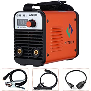 Dual Volt ARC Welding Machine Rod Stick 110/220V Mini Portable Inverter Welder AT2000 HITBOX