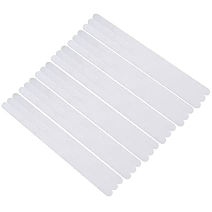 50 piezas tiras antideslizantes para escaleras, transparente transparente, 90 cm de largo y 2,5 cm de ancho