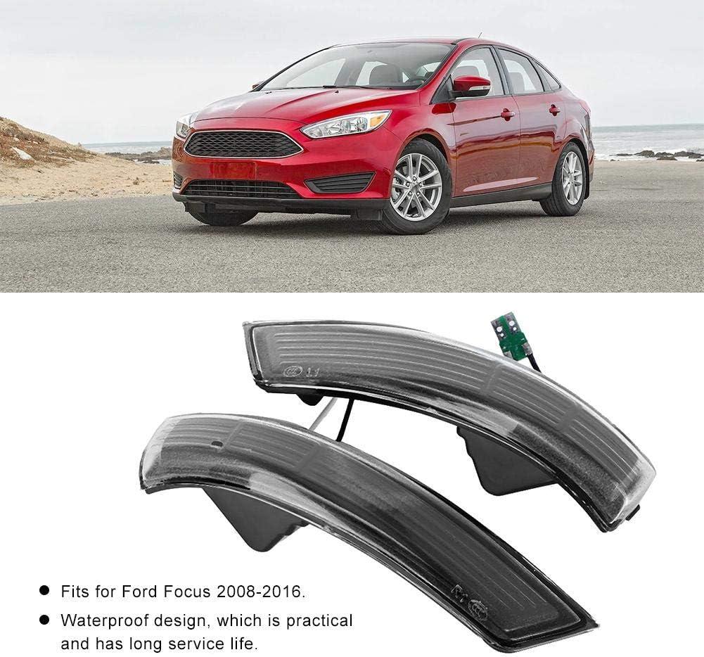 #3 Hlyjoon Specchietto retrovisore per Auto Indicatore di direzione Laterale in Curva Indicatori di direzione Lampeggianti Lampada per Focus Mk2 Mk3 2008-2016 Mondeo Mk4