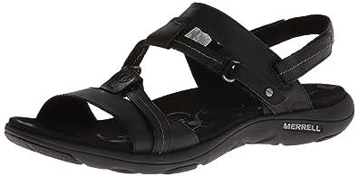 Merrell Women's Swivel Leather Sandal,Black,5 ...