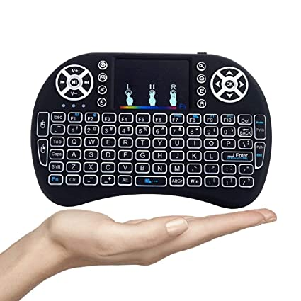 4bc9ec871db Tygot Mini Wireless Keyboard and Mouse(Touchpad with Backlight) with Smart  Function for Smart