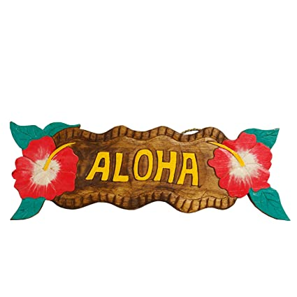 Hawaii pared Cartel 40263 Cartel de madera pared Tabla Aloha Cuadro ...