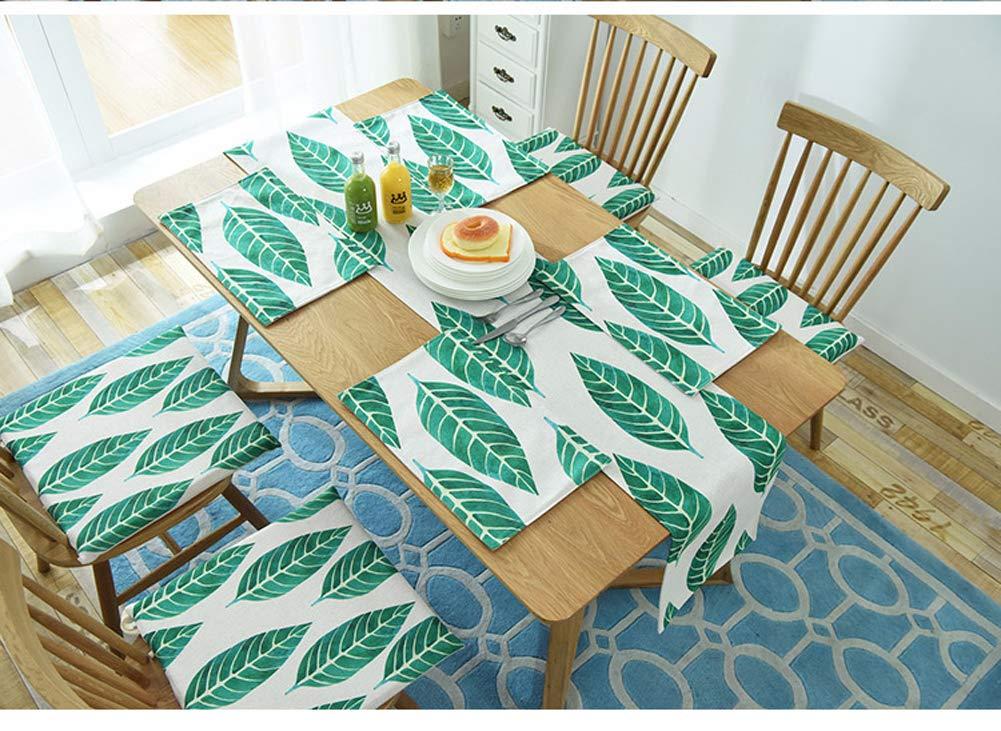 Decorazione Per Hotel 30 160cm Kongeu Sala Da Pranzo Style B Cucina Casa Tavolino Da Caffe Runner Da Tavola Europeo Moderno Con Foglie Di Palma Tropicale