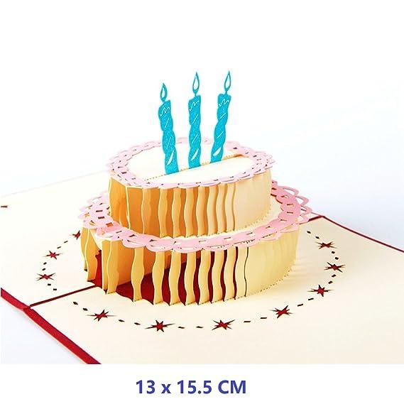 Amazon Pop Up Birthday Card Nacodex 3d Happy Birthday Cake Pop