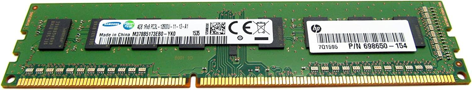698650-154 HP 698650-154 HP 4GB, PC3-12800, CL=11, Dual Inline Memory Module