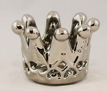 Am Design Deko am design teelichthalter krone silber keramik deko hochzeit