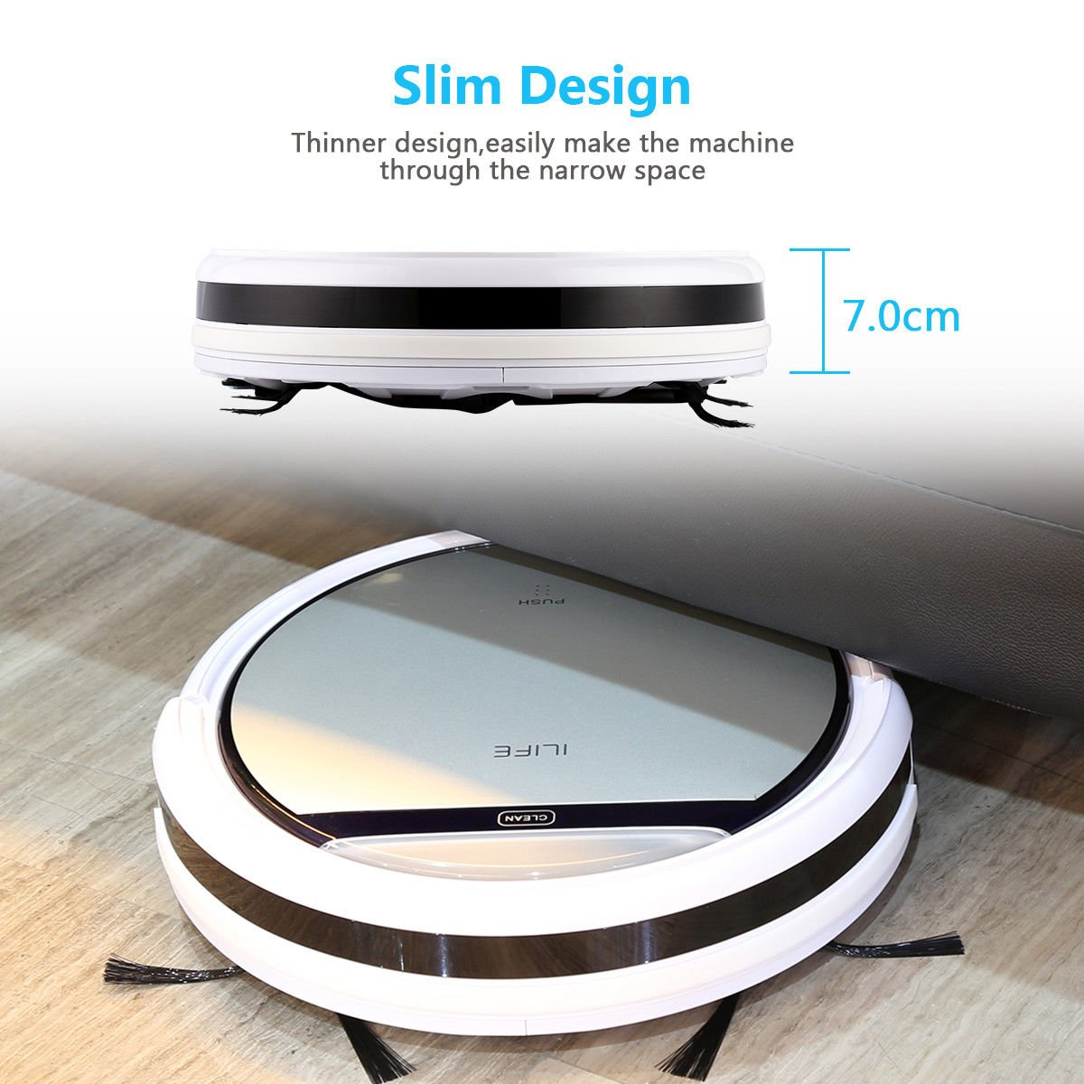 Cleaner Smart Robot Vacuum Cleaning Floor Auto Dust Microfiber Robotic Sweeper Mop Automatic by Alek...Shop (Image #6)