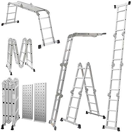 Ladder Multi Function 3 7 Metres Includes 2 Free Platforms Aluminium