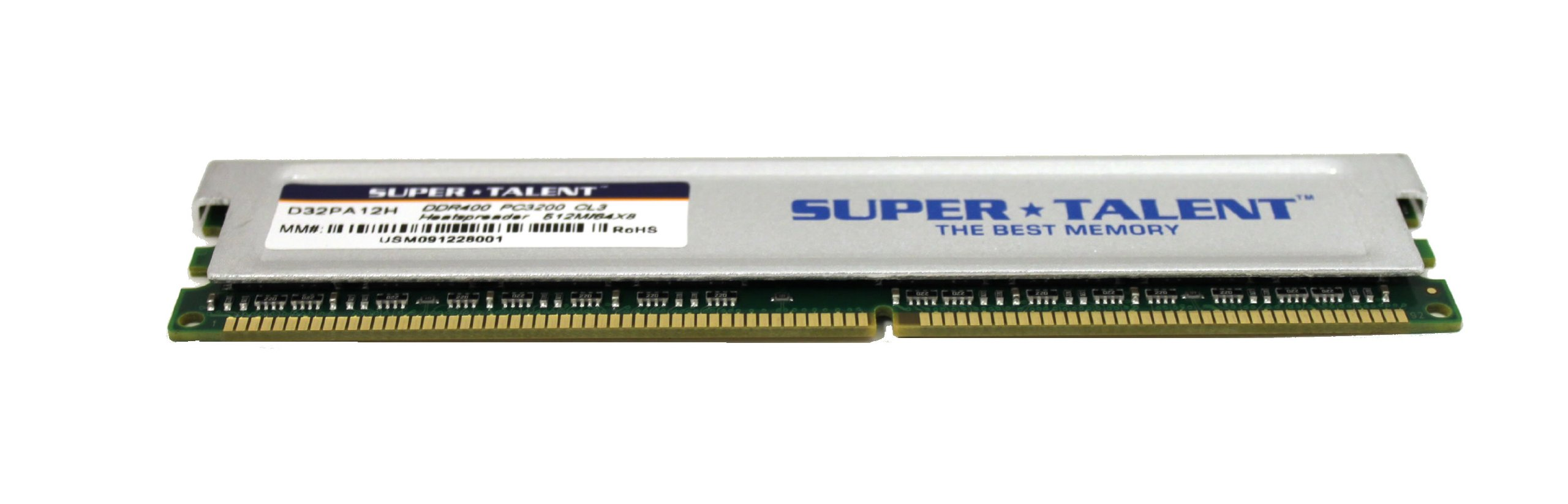 Super Talent DDR400 512MB/64X8 CL3 8CH Memory (PC and MAC G5) D32PA12H by Super Talent (Image #3)