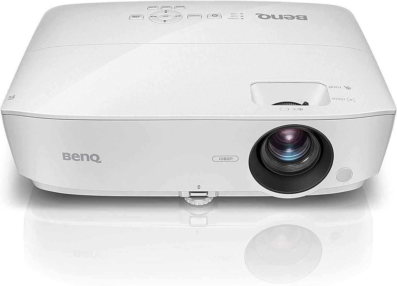 BenQ MH535FHD 1080P Home Theater Projector | 3600 Lumens for Lights on Enjoyment | High Contrast Ratio for Darker Blacks | Keystone and 1.2x Zoom for Flexible Setup (Renewed)