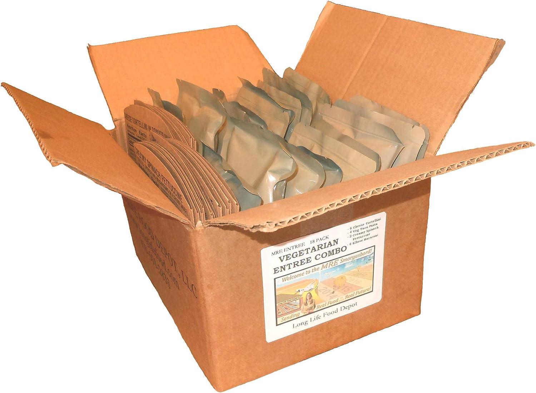 Long Life Food Depot MRE Vegetarian Entree Combo - 18 Pack