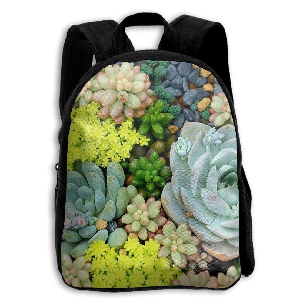 sdeyr79スタイリッシュな子ミニチュア多肉植物学校バックパックBookbags Middle Bags Daypack For Boys Girls   B07FYNDJ1G