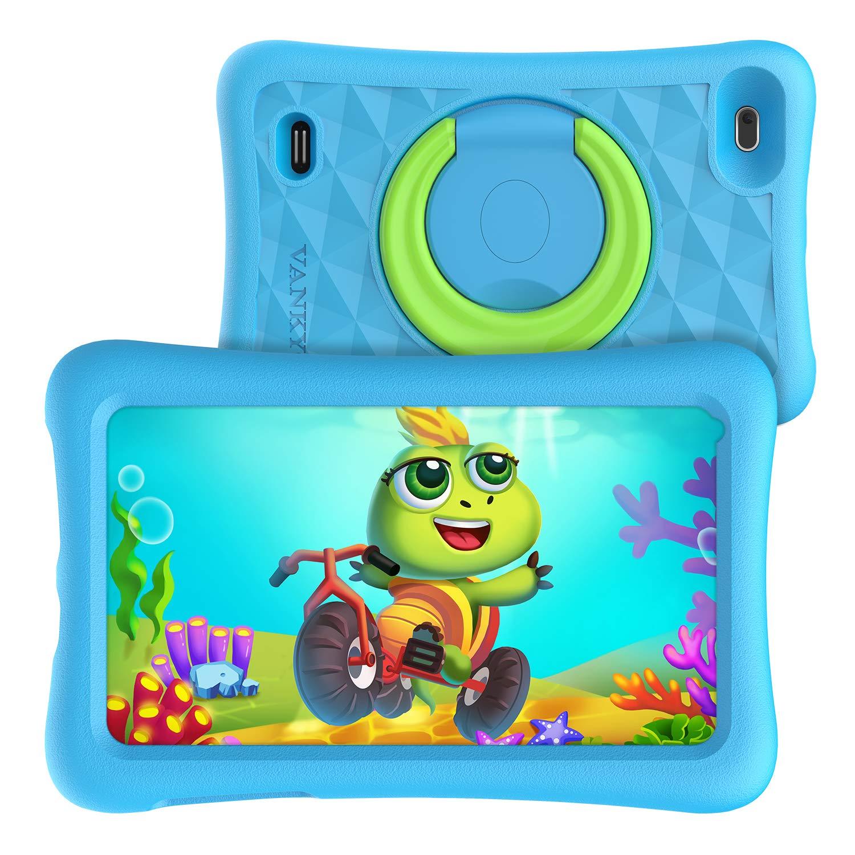 Vankyo MatrixPad Z1 Kids Tablet 7 inch, 32GB ROM, Kidoz Pre Installed, IPS HD Display, WiFi Android Tablet, Kid-Proof Case, Blue by vankyo