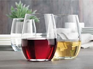 Home Essentials Tablescape Set of 4 Stemless Wine Glass