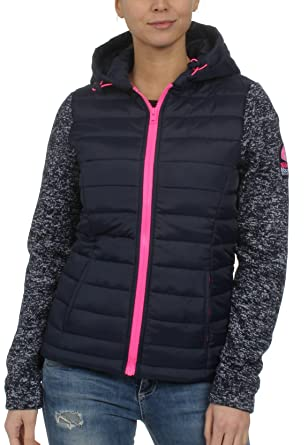 low priced fc362 047e4 Superdry Damen Jacke Storm Hybrid Ziphood Marine (300) XS ...