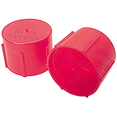 Allstar ALL50804 Red Plastic Fitting Cap for -8AN and 3/4-16 Thread, (Pack of 20): Automotive