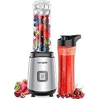 Blender Smoothie Maker, homgeek Mixer met 2 x 600ml BPA-vrije drinkflessen, shake mixer voor shakes, smoothies, ijs en…