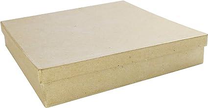 Decopatch Papel maché cuadradas Caja, marrón: Amazon.es: Hogar