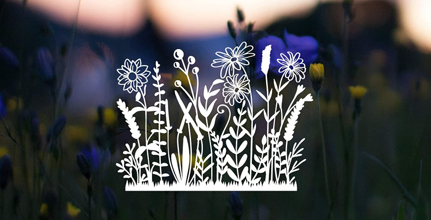 Wildflowers Decal,Car Sticker Vinyl Window Decals for Bottle Laptop Cars Wall Art Quote Funny Stickers