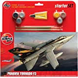 Airfix A55301 Tornado F3 1:72 Scale Military Aircraft Category 3 Gift Set including Paint, Glue and Brushes