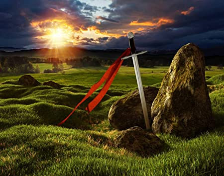 Amazon Com Mqppe Heaven And Sun Lights 5d Diy Diamond Painting Kits Sword On The Meadow Stones Under Sky Storm Full Drill Painting Arts Set Craft Canvas For Home Wall Decor Adults And