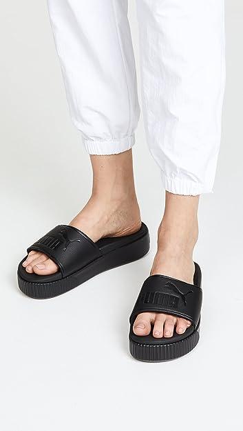 puma platform slide sandals