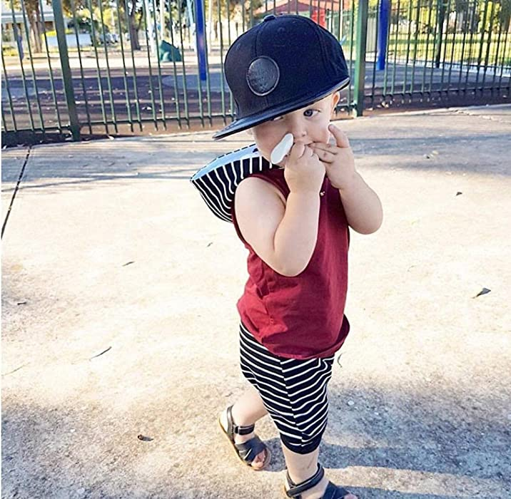 e79b7ad8d Amazon.com  Gloous Toddler Kids Baby Boy Hooded Vest Tops+Shorts ...