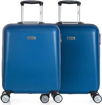 ITACA - Pack 2 Maletas de Viaje Rígidas 4 Ruedas 55x40x20 cm ...