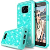 Galaxy S7 Case, TAURI Fashion Glitter Sparkle Bling Shiny [2 In 1] Hybrid Defender Protective Armor Case For Samsung Galaxy S7 - Mint
