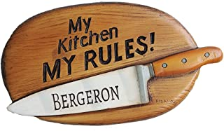 product image for Piazza Pisano My Kitchen My Rules Personalized Wall Plaque