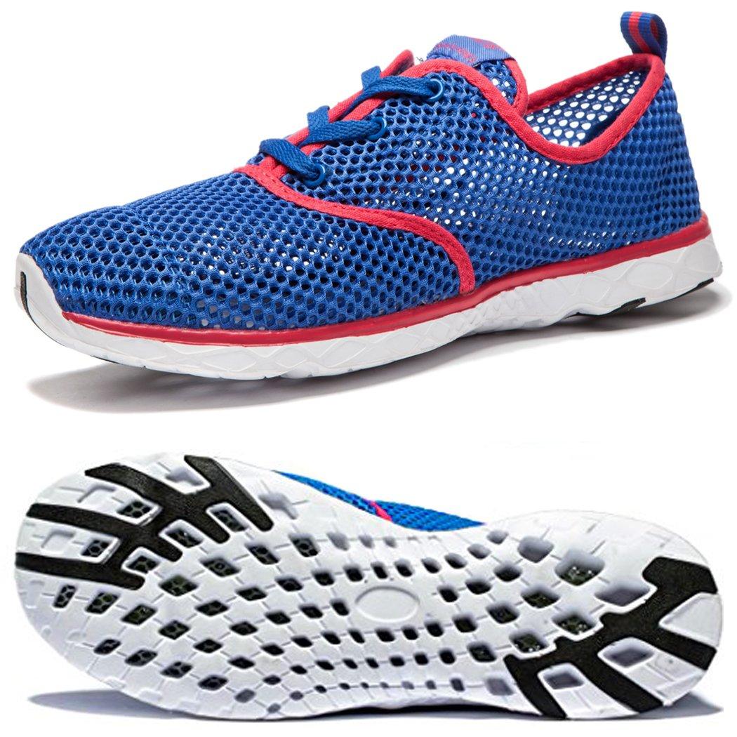 NeedBo Men's Mesh Quick Drying Aqua Water Shoes Breathable Lightweight Walking Shoes