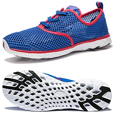 6f2e7f0d04c490 Image Unavailable. Image not available for. Color: NDB Women's Mesh Lace-Up  Quick Drying Aqua Water Shoe ...