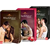 KDENTERPRISE Extra Dotted Chocolate, Butter Scotch and Strawberry Flavour Condoms - Pack of 3 (One Pack=10 Piece)