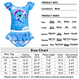 Cotrio Girls Two-Pieces Swimming Suit Rainbow