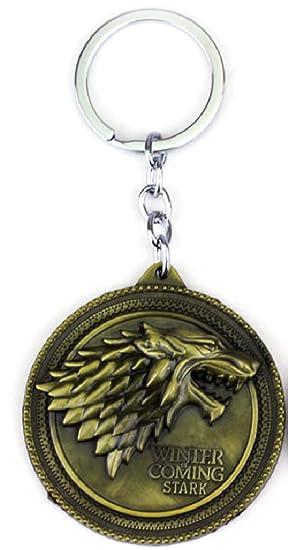 JUZIPI - Llavero de metal con diseño de lobo de Juego de ...