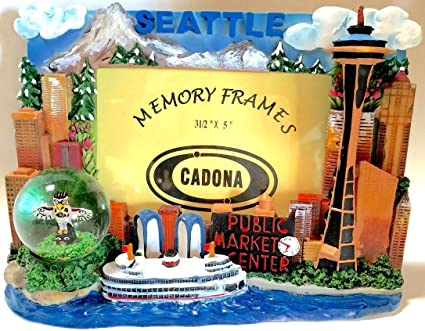 Amazon.com - Seattle Picture Frame with Snow Globe -