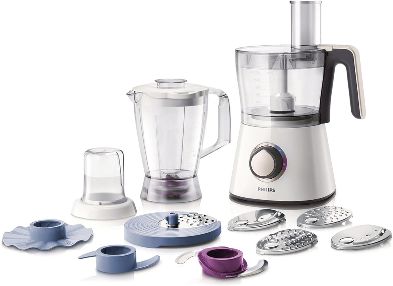 Philips HR7761/00 - Procesador de alimentos (con bol, batidora y picador, 750 W) viva collection, color blanco: Amazon.es: Hogar