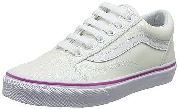 Girls Old Skool Glitter Lace Sneakers